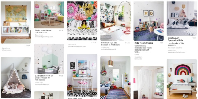 Pinterest board kids room
