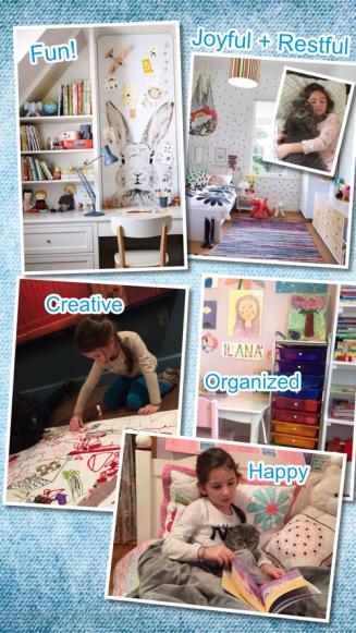 Vision board kids room design