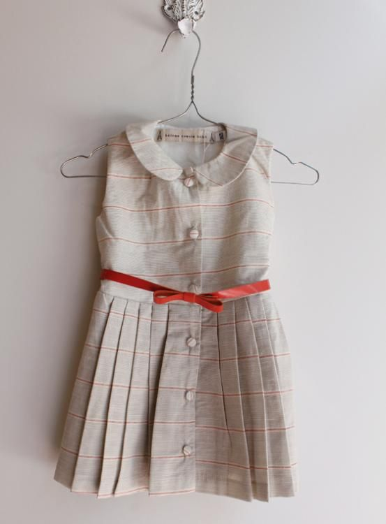 Girls classic dress on a hanger