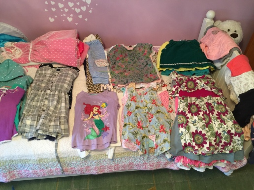 Kon Mari kids clothes organized into categories