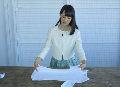 Marie Kondo basic folding method youtube video