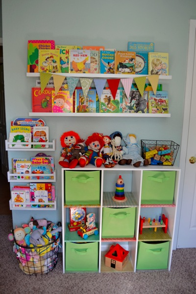 The toy wall a great way to organize toys