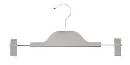 Plastic skirt hanger grey