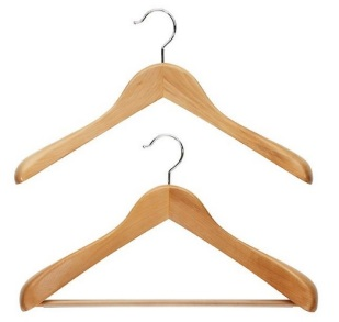 Superior natural wood hangers