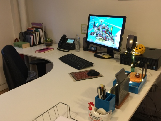 Organized office desk