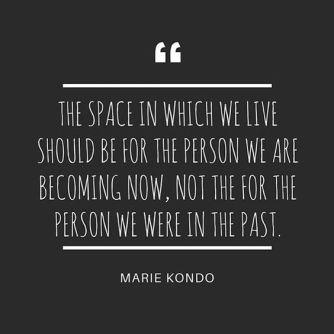 Marie Kondo quote